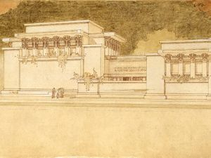 Unity Temple, Oak Park, IL. 1904. (The Frank Lloyd Wright Foundation Archives/Avery/MoMA)