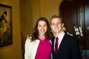 Mr. Friedman's daughter and new son-in-law. (Photo credit: The New York Times).