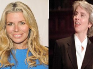 Housewife Aviva Drescher and social critic Camille Paglia (Getty Images)
