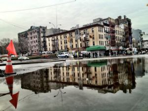 A soggy Bowery after a Feb. water mane break. (Bowery Boogie)