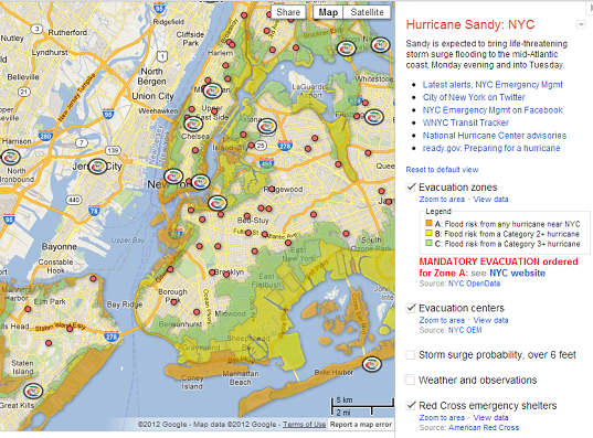 Hurricane Sandy: Mayor's Office and Google Team to Create The Crisis Map