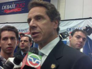 Governor Cuomo in a reporter scrum.