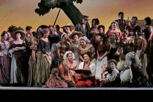 The cast of 'L'Elisir d'Amore.' (Ken Howard/Metropolitan Opera)