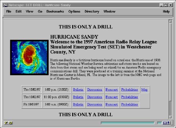 The First Hurricane Sandy