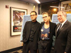 Josh Fox, Scarlett Johansson, and Scott Stringer at 'Gasland' benefit