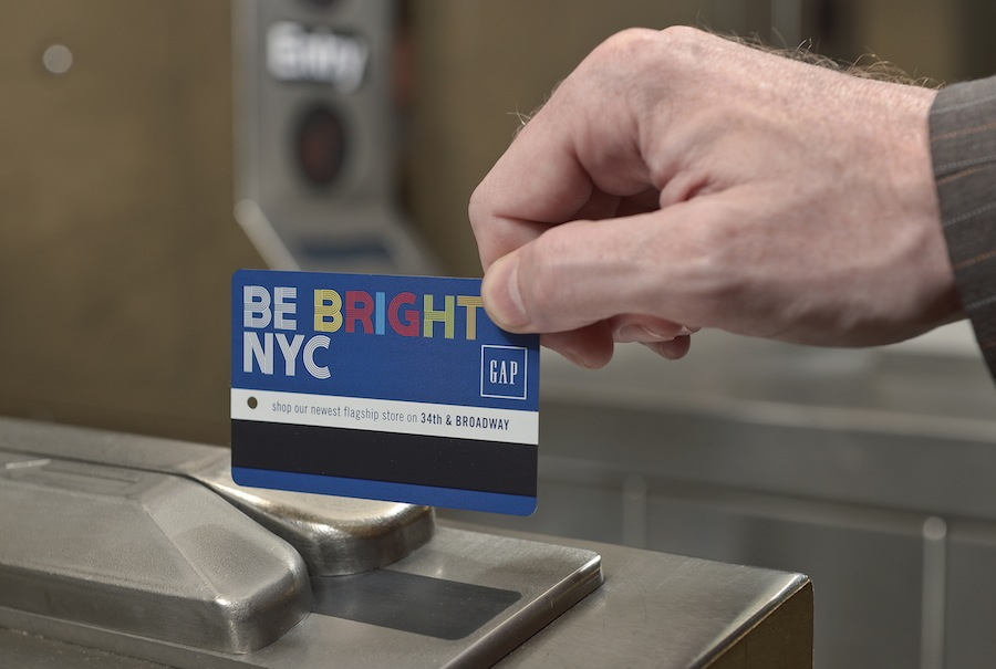 Mind The Gap: Clothing Retailer Buys First Front-of-Metrocard Ads (Plus It's a Coupon!)