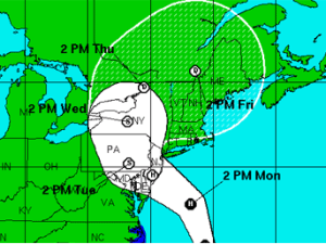 Predicted track of the storm. (NHC)