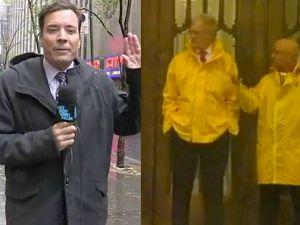 Letterman and Fallon: Braving the storm (NBC, CBS)