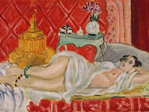 Henri Matisse. Reclining Odalisque (Harmony in Red), 1927 Jacques and Natasha Gelman Collection, 1998 (1999.363.44) (Courtesy Metropolitan Museum of Art) This is an example of art work by Matisse and was not one of the works referred to in this story.