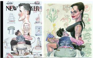Barry Blitt's cover, Victor Juhasz's cover