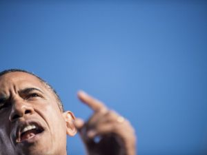 President Obama campaigning in Ohio this week. (Photo: Getty)