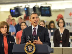 President Obama speaking today. (Photo: Getty)