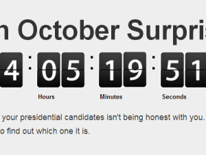 "A screengrab from the ""October Surprise"" site. (Photo: OctSurprise.com)"