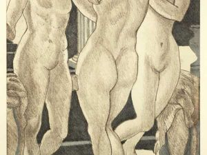 'The Three Graces' (2007) by Philip Pearlstein. (Courtesy the artist and Mezzanine Gallery)