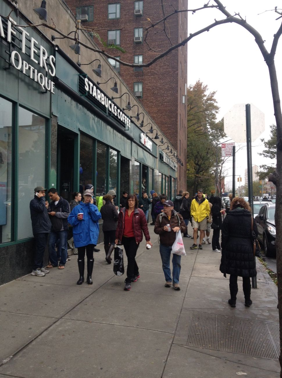 People Clustering for Cell Phone Service, Pitch Black Hospitals Among the Oddities of Post-Sandy Manhattan