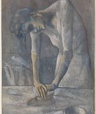 """""""Woman Ironing"""" by Picasso. (Courtesy Solomon R. Guggenheim Museum, via New York Times)"""