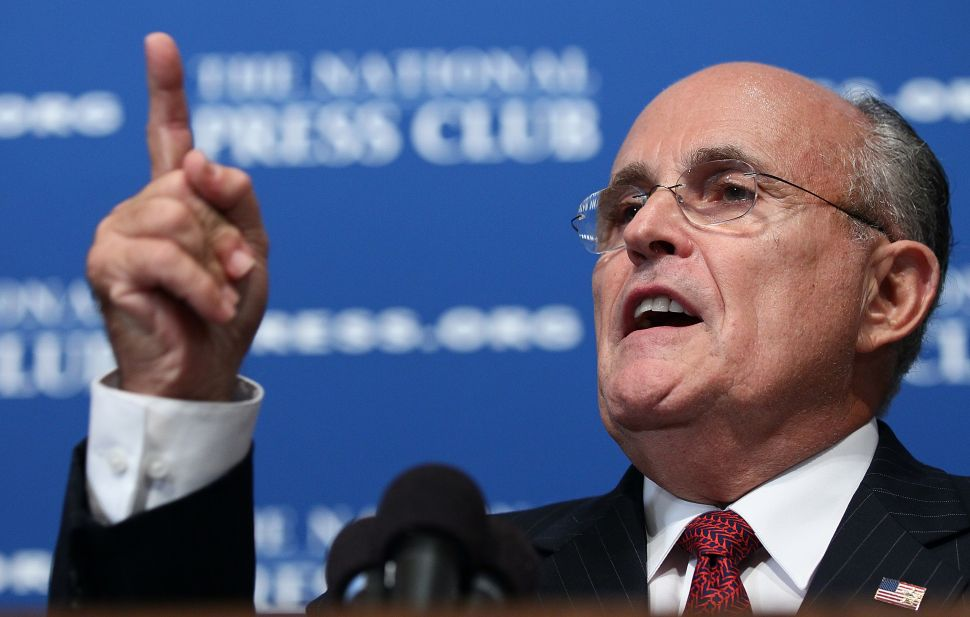 Giuliani Blames 'Liberal Guilty Whites,' Teachers for Police Relations