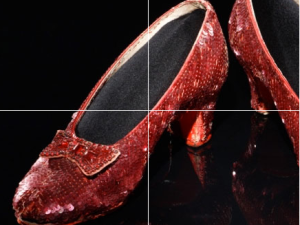 Dorothy's Ruby Slippers from 'The Wizard of Oz,' (1939). (Courtesy Smithsonian's National Museum of American History)