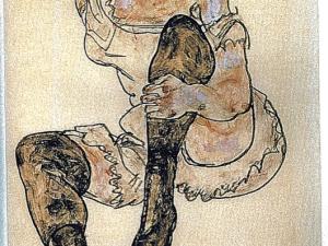 Egon Schiele, 'Seated Woman With Bent Left Leg (Torso),' (1917). (Courtesy Pryor Cashman LLP)