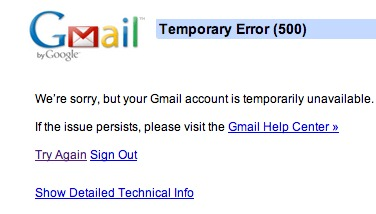 Gmail Went Away for Ten Minutes and Everyone Flipped Out