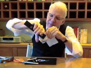 Steve Martin making his wad of paper and endorsing Bob Kerrey. (Photo: YouTube)