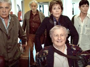 Bedos, Richard, Fonda, Rich and Chaplin in All Together.