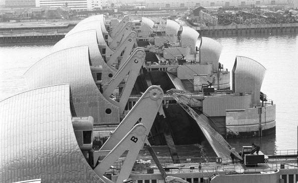 London has had barriers on the Thames since 1984. (Getty)