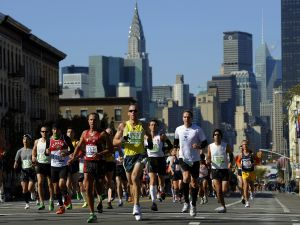 Runners participating in the 2011 NYC Marathon. (Photo: Getty)