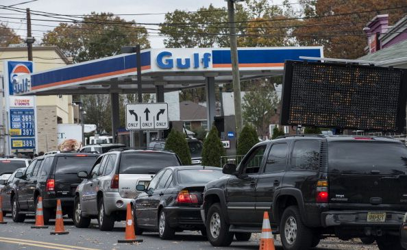 The traffic is usually bad enough as it is around Thanksgiving—could gas rationing make it worse? (Getty)