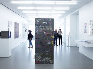 """Come Closer: Art Around the Bowery, 1969-1989,"" 2012-13. Exhibition view: New Museum. Photo: Jesse Untracht-Oakner."