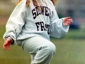 Chelsea Clinton at soccer practice in Washington, D.C., in January of 1993. (Mike Marucci/AFP/Getty Images)