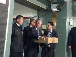 Mayor Bloomberg at his press conference.