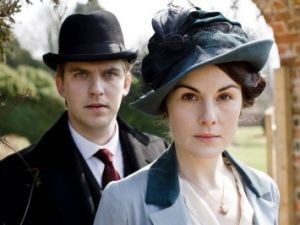 Dan Stevens and Michelle Dockery of 'Downton Abbey'