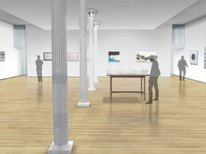A rendering of the Drawing Center's new main gallery. (WXY Architecture)