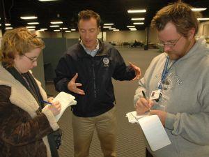 Brad Gair, center, in Indiana in 2005. (FEMA)
