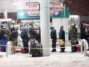 A Brooklyn gas station on Wednesday. (Photo: Getty)