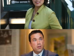 Grace Meng and Michael Grimm (Photo: Meng Campaign/Getty)