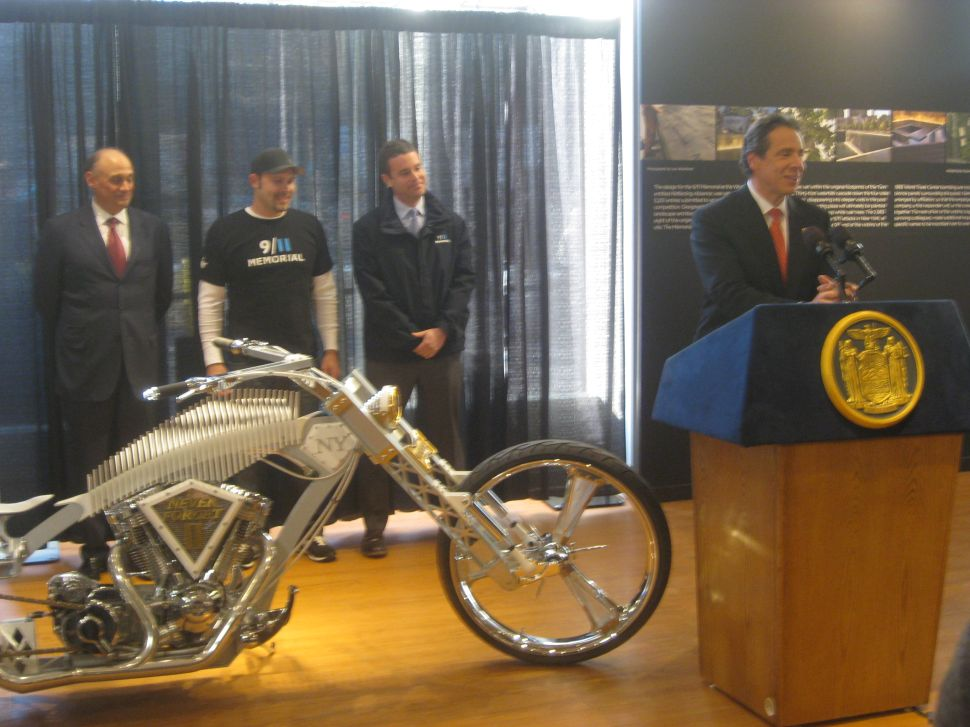 Gold-plated Motorcycle Perfect Symbol for 9/11 Memorial, Sandy Recovery Says Cuomo