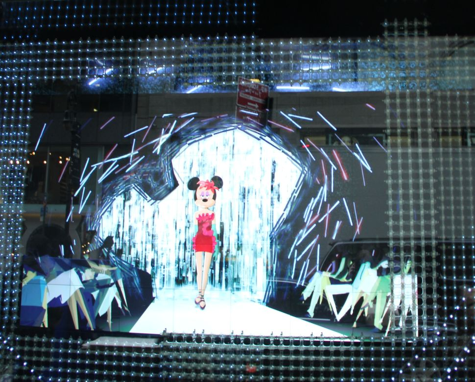 It <em>Is</em> a Small World After All: Barney's Scales Down Window Display for Minnie Mouse