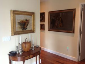 Mr. Naumann's collection provides wonderful decoration for the walls.