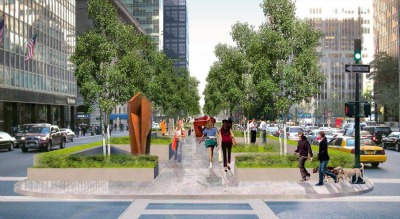 Park Avenue promenade.