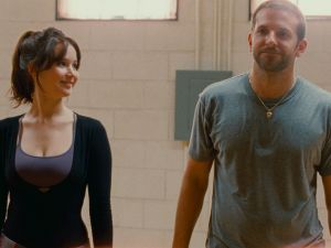 Lawrence, left, and Cooper, right, in Silver Linings Playbook.