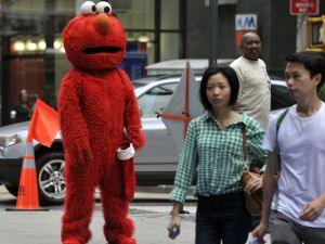 Times Square Elmo moving to warmer climate (Getty)