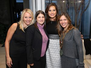 Mariska Hargitay with guests at the Me&Ro Holiday Event Benefiting her charity Joyful Heart Foundation yesterday after the awards. (Photo by Neilson Barnard/Getty Images)