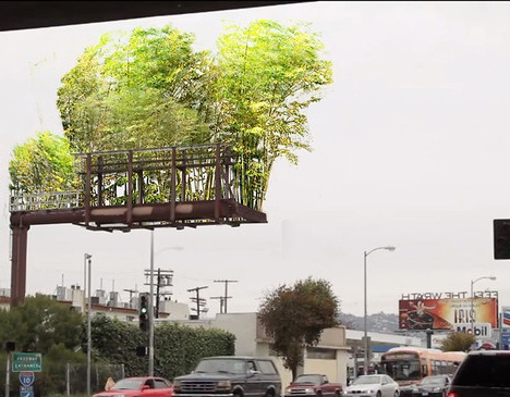 Urban Air Transforms Billboards Into A Cloud Forest In The Sky