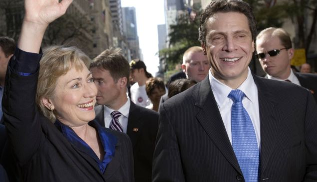 Hillary Clinton and Andrew Cuomo at the Columbus Day Parade in 2006 (Photo: Getty Images).
