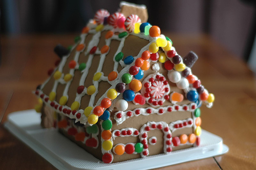 We guarantee three times as much candy was eaten as made it onto the house. (Photo: flickr.com/carriestephens)
