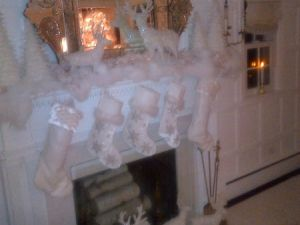 Governor Andrew Cuomo and Sandra Lee's stockings hung with care. (Photo: Twitter)