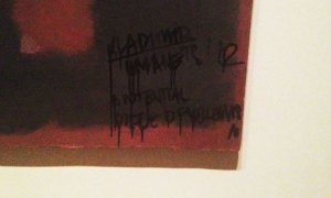 The defaced Rothko. (Courtesy the Guardian)