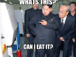 One of the Internet's most prolific Kim Jong Un memes. (Photo: 1mut)